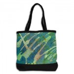 hand crafted shoulder bag cool water