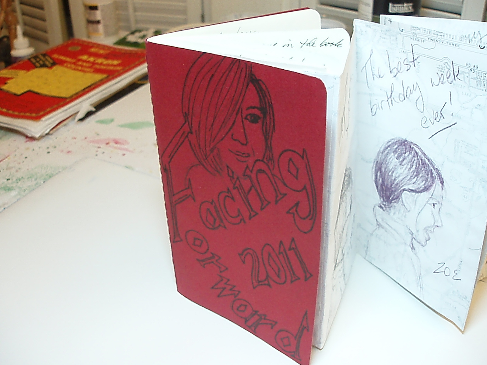 Cover of sketchbook for facing forward
