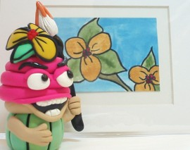 Cupcake Studio Mascot with ACEO