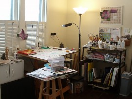 my drawing table in my studio