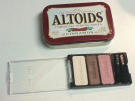 Cosmetic Palette and Mint Tin