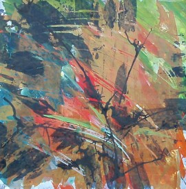 Colors and Lines, Fall, by Life Needs Art, acrylic painting