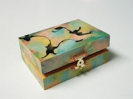 painted wooden box for art every day month