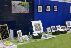 lifeneedsart booth at Solon PTA Craft Fair, November 12, 2011