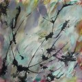 abstract acrylic painting thistles memories life needs art