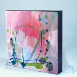 memories series abstract painting side view