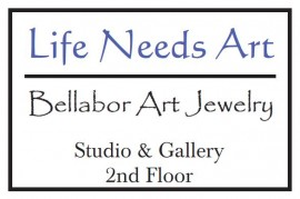 Life Needs Art, Bellabor Art Jewelry Sign