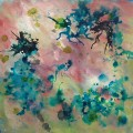 Dancing In The Spring, abstract painting by Ohio artist Karen Koch, Life Needs Art