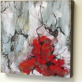 November, side view, an abstract painting by artist Karen Koch