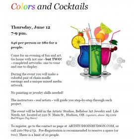 colors and cocktails, an evening of art and fun