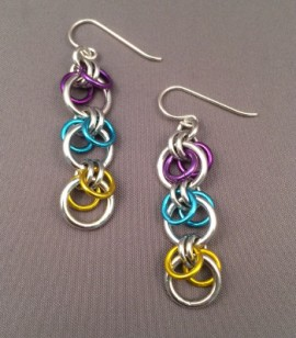 chain maille earrings by Bellabor Art Jewelry