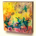 Summer Day, 8 inches square. An original painting by Karen Koch, Life Needs Art