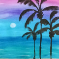 Moon Rise Over Cabo, BYOB Painting Party