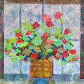 Geranium Collage by Karen Koch, Life Needs Art