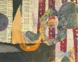 Time To Think, A Collage, by Karen Koch, Life Needs Art