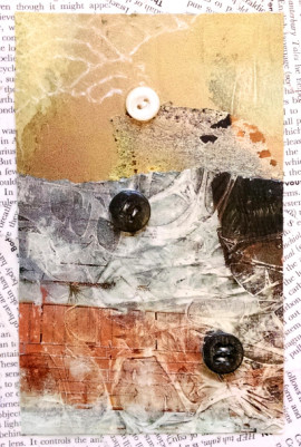 All Buttoned Up #1, a collage
