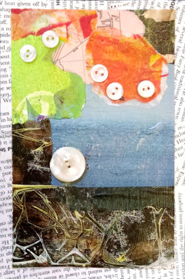 All Buttoned Up #5, a collage