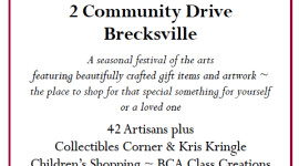 Brecksville Heartfelt Holiday, November 7-8