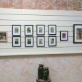 Collage Art at Cuyahoga Valley Art Center, Artists Cafe, by Karen Koch