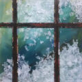 Frosty Window, collage, by Karen Koch