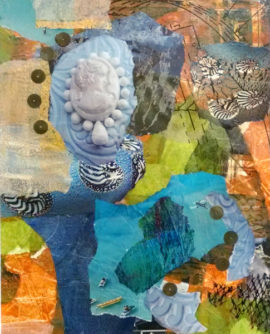 Deep Blue Sea, collage, by Karen Koch