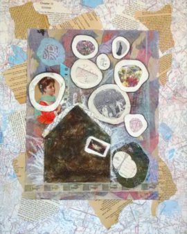 Too Much To Contain, collage, by Karen Koch