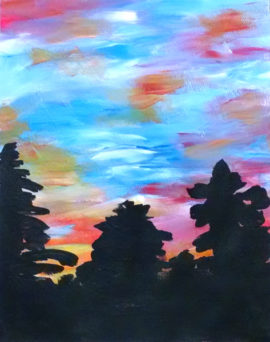 Painting Party Sample - Sunset - Hudson Ohio