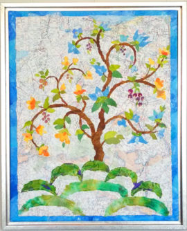 Tree of Life, collage, by Karen Koch