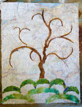 Tree of Life, collage, in progress, Karen Koch