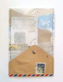 Open-Ended Communication, postcard collage, by Karen Koch