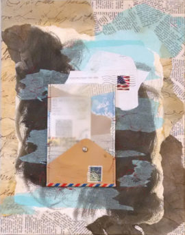 Open Ended Communication, collage, by Karen Koch