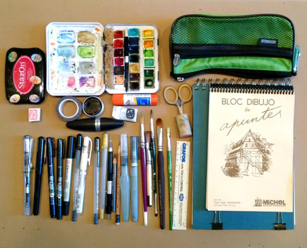 art supply kit for urban sketchers chicago: planned