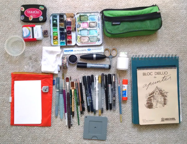 art supply kit for urban sketchers chicago: what i took