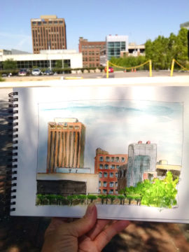 Akron Urban Sketch