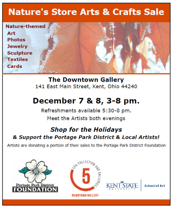 Portage Park District Foundation Nature's Store Juried Arts and Crafts Sale